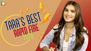 Download Tara Sutaria's QUIRKY Rapid Fire | I'm Big SRK Fan | Attractive Sidharth Malhotra Video