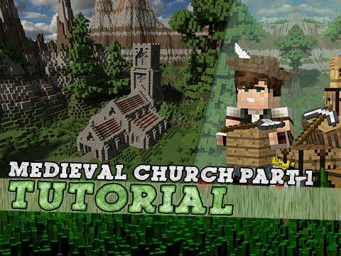 Minecraft Tutorial: Medieval Church! Part 1/2