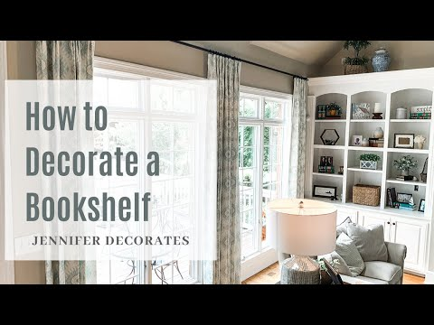 EASY! How To Decorate A Bookshelf!