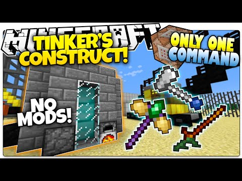 Minecraft | TINKER'S CONSTRUCT | Custom Tools & Weapons! | Only One Command (One Command Creation)