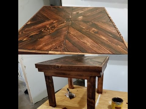 DIY pallet wood end table tutorial- EASY!!