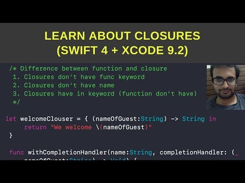 Tutorial on closures in swift 4 for beginners