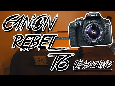 Canon EOS Rebel T6 (1300D) Bundle Unboxing!
