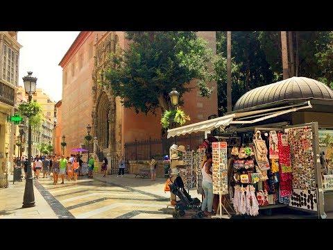 MÁLAGA WALK   Málaga Cathedral - Facade and Church Courtyard   Spain