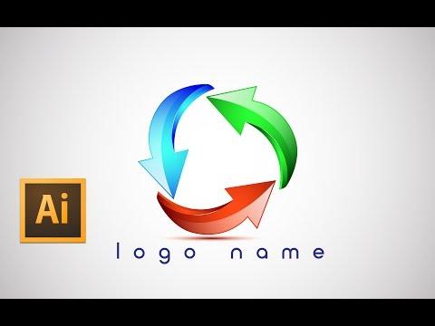 Adobe Illustrator cc tutorial  logo design (using arrows)