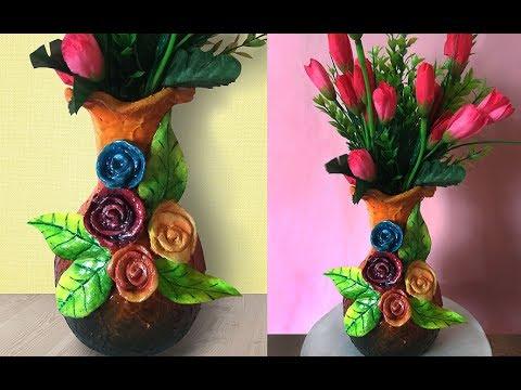 DIY Flower Vase Decoration Using Ceramic Powder | Ceramic Art Tutorial