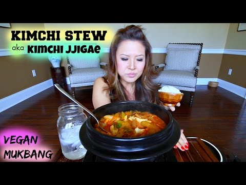 KIMCHI STEW aka KIMCHI JJIGAE • Mukbang & Recipe
