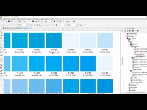 Create Color Charts with the Color Chart Creator Extension in CorelDRAW X8