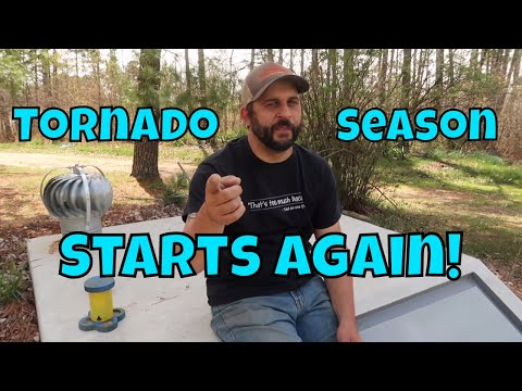 Getting the Bunker Ready for Tornado Season.