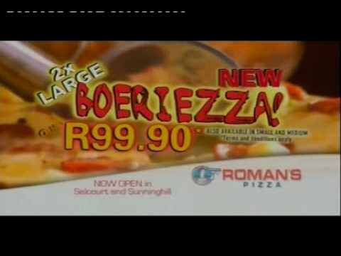 Romans Pizza 'Boeriezza' Advert