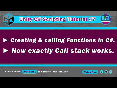 C# Unity 47 - Creating & calling a function, understanding call stack