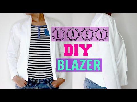 How to make easy DIY Blazer/Jacket step by step tutorial (Beginners  Friendly)