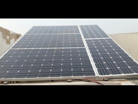 1000W Solar Power System with AC Load Urdu Hindi