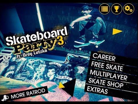 Skateboard Party 3 ft  Greg Lutzka iPad App Review | Skateboard Party 3