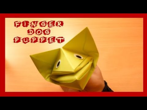 How To Make A Paper Finger Puppet Dog