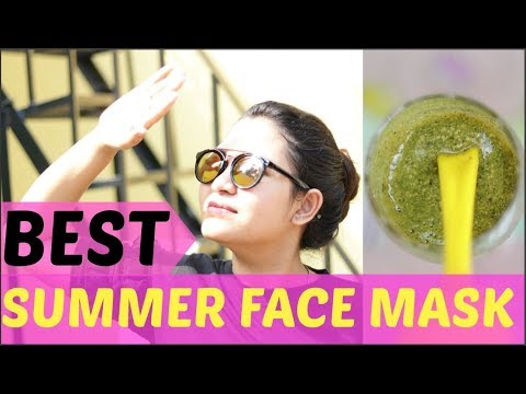 Summer Special/Remove sunburn,rashes,Prickly heat/Get clear skin /गर्मी के मोसम के लिये BEST फेस पैक