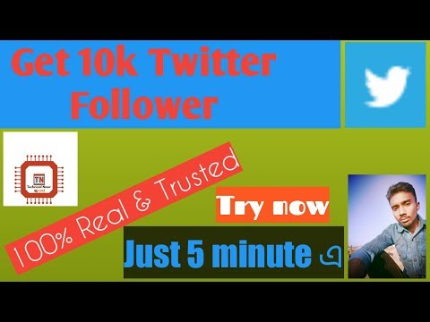 100 Real followers increase twitter || No fake tips || now try it