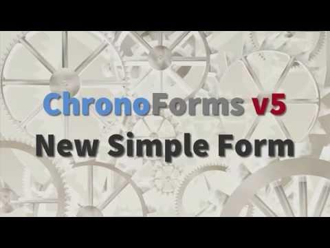 ChronoForms v5 A New Simple Form