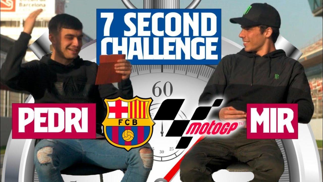 ⏱️ 7 SECOND CHALLENGE | PEDRI vs JOAN MIR 🏍️