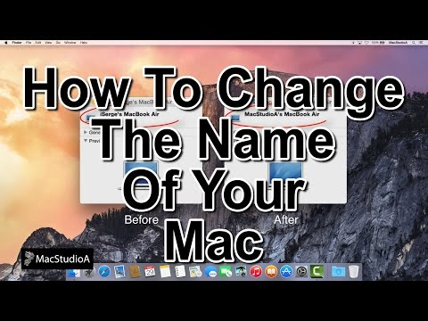 How To Change The Name Of Your Mac