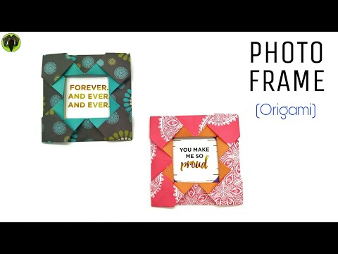Photo Frame - DIY Origami Tutorial - 910