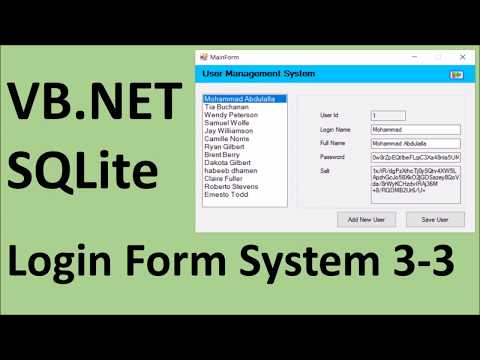 How to create Login Form using VB.Net and SQLite 3-3