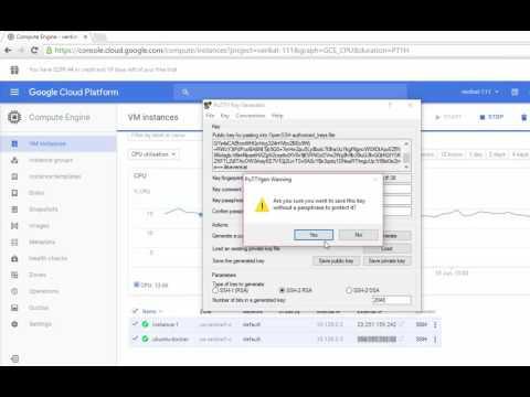 Transfer files Google Cloud Platform using WinScp