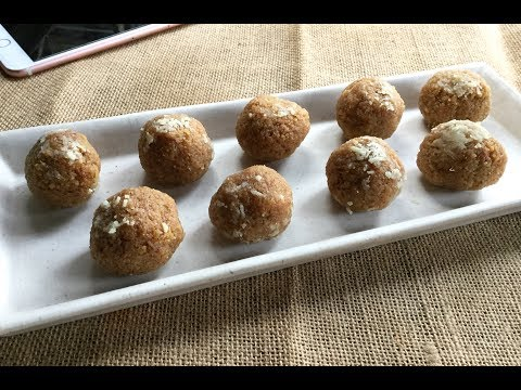 Khejur Gurer Narkel Naru | Date Jaggery Coconut Ladoo | Indian Dessert - In Bengali #262