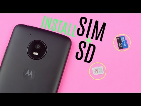 How to Insert SD Card + SIM Card to Moto E 4th Generation (2017)