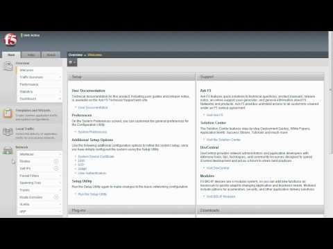 BIG-IP Configuration Series: BIG-IP Web GUI Navigation