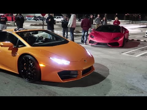 Lamborghini Huracans Shut Down Car Show - Crazy Exhaust Revs!!!