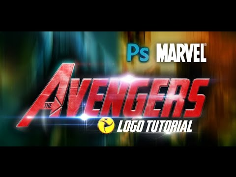 LOGO THE AVENGERS: PHOTOSHOP TUTORIAL CS4|CS5|CS6
