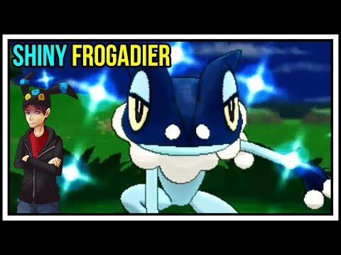 SUCH A GOOD SHINY POKEMON!! Shiny Frogadier Reaction in Pokemon X and Y! Shiny Living Dex #657