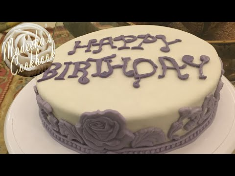 DIY: How To Make Moist, Dense and Soft Vanilla Cake Covered With Fondant  In Easy Steps