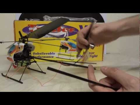 XRobots - Twister 2 R/C Helicopter Repair, replacement carbon fiber tail boom