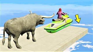 GTA 5 🐸 Bad Bull Ragdolls and Funny Moment