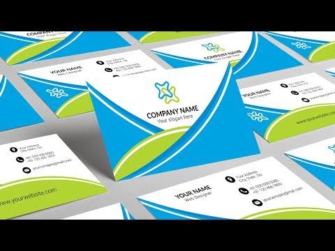 Illustrator tutorial - Modern business card