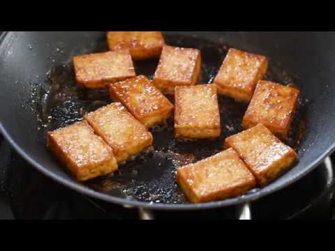 Soy sauce and butter glazed tofu recipe