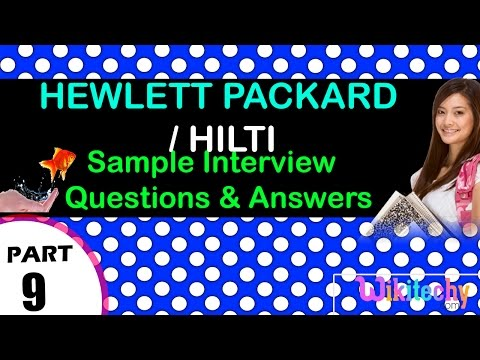 hewlett packard hp enterprise | hilti top most interview questions and answers for freshers