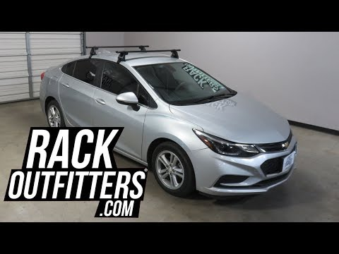 Chevrolet Cruze Outfitted with Yakima Baseline Corebar Roof Rack Crossbars