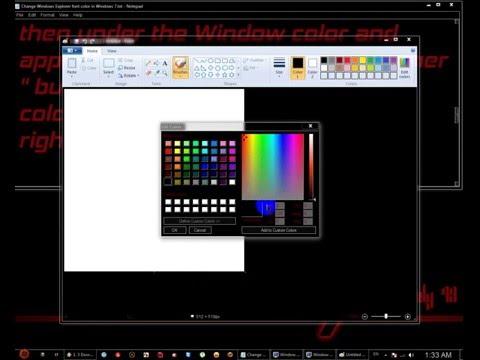 How to Change Windows Explorer font color