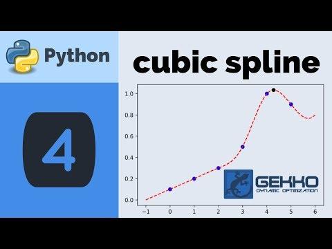 Cubic Spline with Python GEKKO