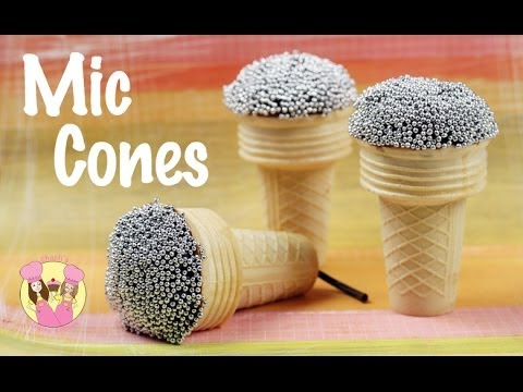 Make GLEE MICROPHONE cone cupcakes - Wireless Mic - Singing or disco theme party