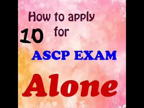 How to apply for ASCP Exam alone ( admission and registration )  1