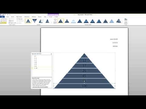 Microsoft Word Tutorial: How to create a SmartArt Pyramid!