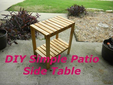 How To Make a SImple Cedar Patio  Side Table