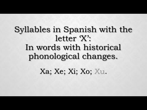 Xxx Mp4 How To Pronounce In Spanish Syllables With The Letter 39 X 39 Xa Xe Xi Xo Xu Part 4 3gp Sex