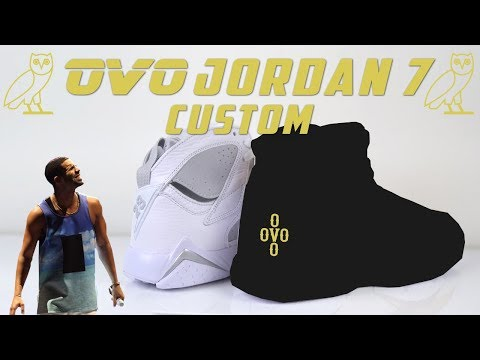 Drake OVO Custom Jordan made from Pure Money 7's