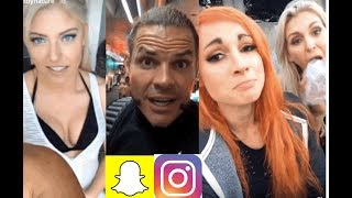 WWE Snapchat/IG Moments ft. Matt & Jeff Hardy, Alexa Bliss, Becky Lynch, Charlotte n MORE