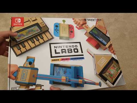 Nintendo LABO for Switch Unboxing